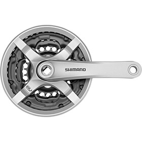 Shimano FC-TY501 Pédalier 6/7/8 vitesses 42-34-24 dents avec carter de protection, silver